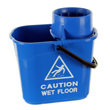 15 ltr twist mop bucket - blue