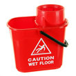 15 ltr twist mop bucket - red