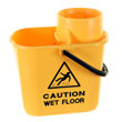 15 ltr twist mop bucket - yellow